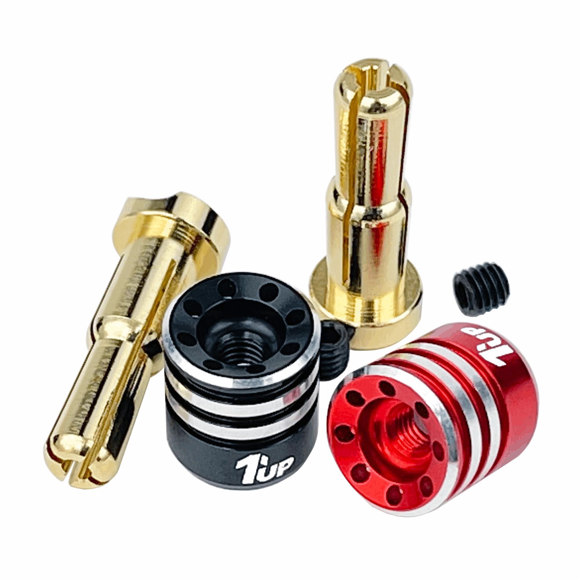 1up Racing Heatsink Bullet Plugs - 4/5mm Stepped (2pcs)
