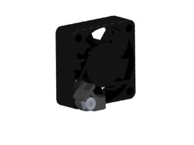 Cooling Fan Mount - Black
