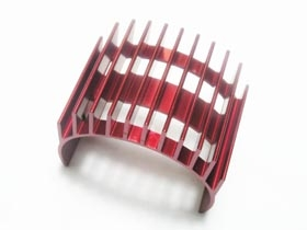 3Racing Motor Heat Sink For 540 Motor (High Finger) - Red