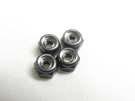 3Racing 2mm Aluminum Lock Nut - Titanium
