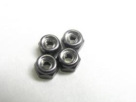 3Racing 2mm Aluminum Lock Nut - Titanium