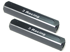 3Racing 13mm Chassis Droop Gauge Blocks ( 2 Pcs ) - Black Color