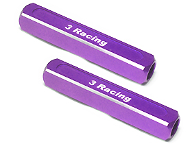 3Racing 13mm Chassis Droop Gauge Blocks ( 2 Pcs ) - Purple Color