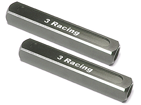 3Racing 13mm Chassis Droop Gauge Blocks ( 2 Pcs ) - Titanium Color