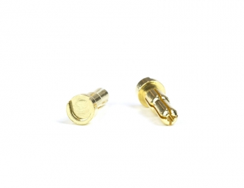 Gold Battery Bullets (2)  Low Profile  5 to 4mm