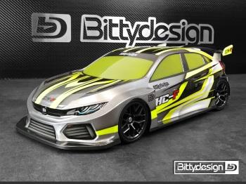 Bittydesign HC-F 190mm FWD Clear Body