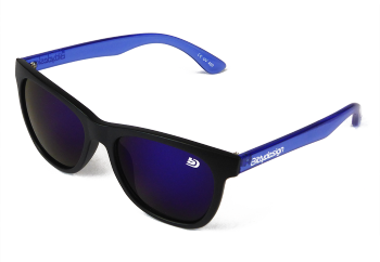 Bittydesign Venice Future Sunglasses (Blue/Matte Black FrameBlue Mirror Lens)