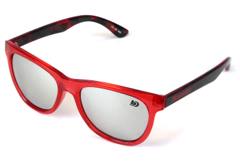 Bittydesign Venice Passion Sunglasses (Red FrameChrome Mirror Lens)