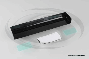 CS Electronic Touring Car Wing + 2 End Plates - Clear