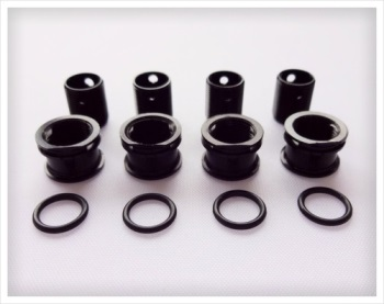 "Gravity RC Body height adjustment system Fits all 6mm diameter body posts ""TC"" (Set of 4 Black)"