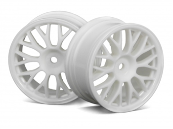 HPI Racing MESH WHEEL 26mm WHITE (1mm OFFSET)
