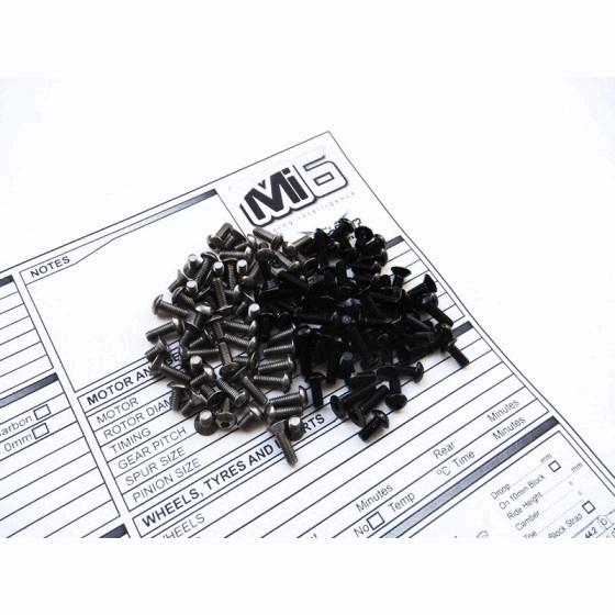 Hiro Seiko Mi6 Titanium& Alloy Hex Socket Screw Set [Black] (79pcs)