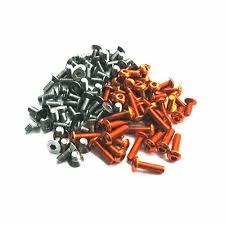 T4`17 Titanium & Alloy Hex Socket Screw Set (99 pieces)