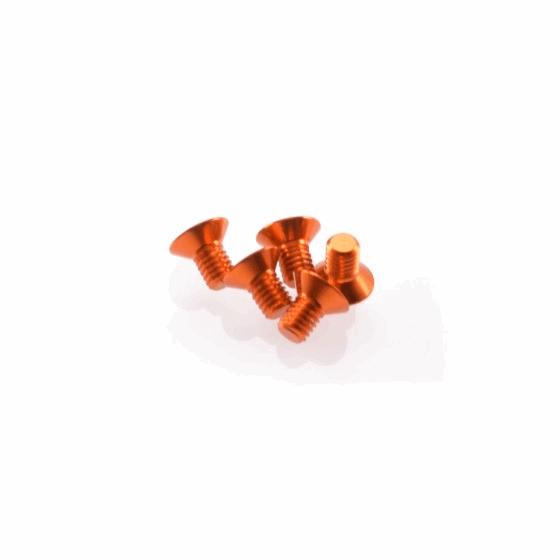 Hiro Seiko Alloy Hex Socket Flat Head Screw M3x5 [Orange]