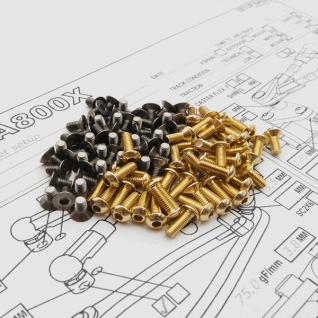 A800X Titan/Alloy Hex Socket Screw Set Gold (93pcs)