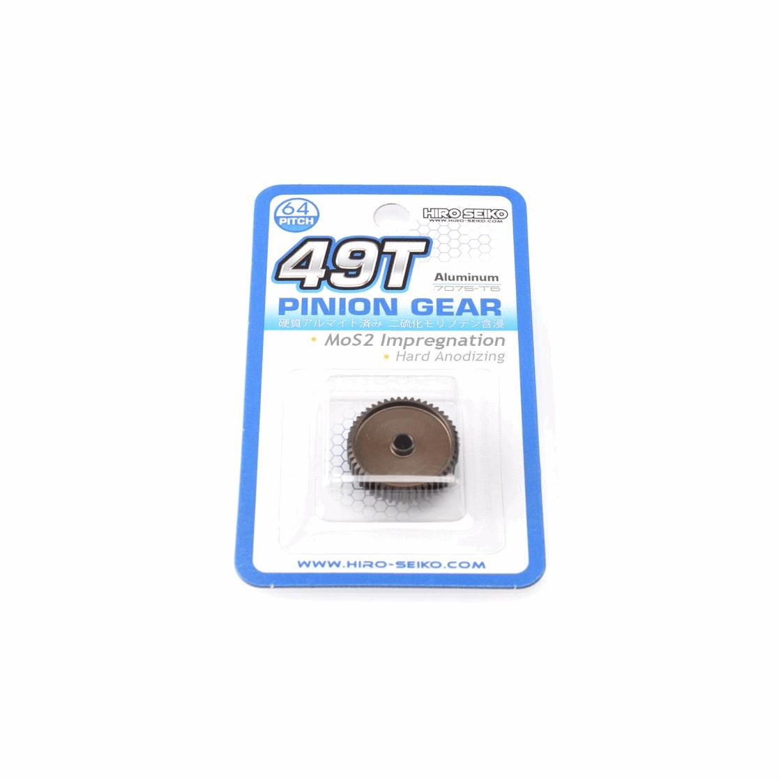 Hiro Seiko Hard Coated Alum. Pinion Gear (MoS2) DP64-49T