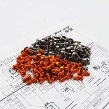 T4`19 Titan/Alum Hex Socket Screw Set (109 pcs)