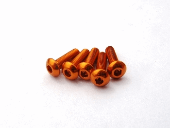 Hiro Seiko Alloy Hex Socket Button Head Screw M3x8  [Orange]