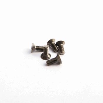 Titanium Hex Socket Flat Head Screw M3x12 (4)