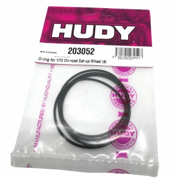 Hudy Replacement O-Ring for XRAY X12 battery mount / Setup Wheels (4 pcs)
