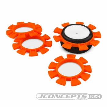 Jconcepts Satellite tire gluing rubber bands - orange - fits 1/10th SCT and 1/8th buggy