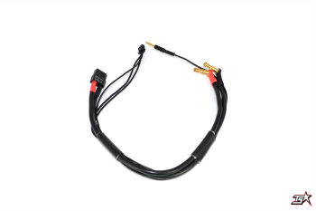 MR33 2S XT60 All-Black Charging Lead - 300mm - (4/5mm Dual Plug - XH)