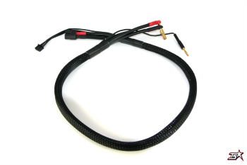 MR33 2S XT60 All-Black Charging Lead - 600mm - (4/5mm Dual Plug - XH)