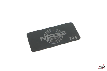 MR33 20g Steel Battery Weight 0.6mm Short Black