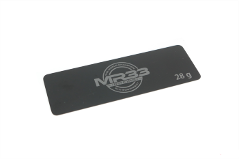 MR33 28g Steel Battery Weight 0.6mm Long Black