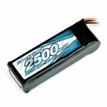 Muchmore IMPACT Li-Po Battery 2500mAh/7.4V 4C Flat Size for Tx & Rx