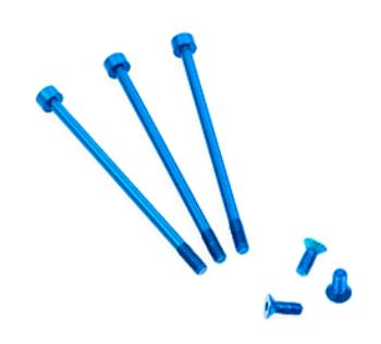 FLETA ZX V2 Case & Timing cap Aluminum Screws Blue (6pcs)