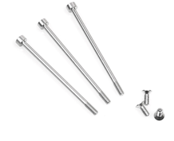 Muchmore FLETA ZX V2 Case & Timing Cap Aluminum Screws silver (6pcs)