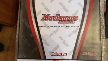 MuchMore STICKER for Light Weight Factory Team Setup Board 3 for 1/10 1/12 (320x420) (Christos Vas in one line Red)