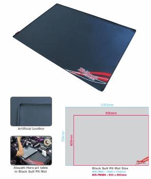 Black Suit Pit Mat Black L Size (Artificial Leather)
