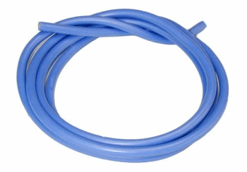 14 AWG Silver Wire - Blue 90cm