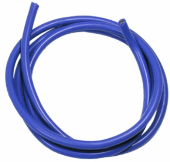 16 AWG Silver Wire - Blue 90cm