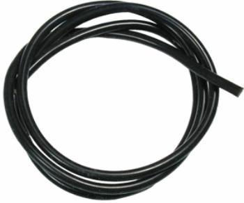 16 AWG Silver Wire - Black 90cm