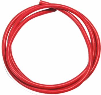 16 AWG Silver Wire - Red 90cm
