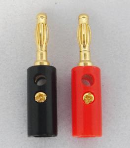 Banana Gold Connectors (Red & Black Set)