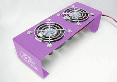 12v Cooling Fan Stand Purple
