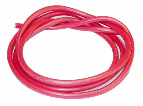 14 AWG Silveri Wire - Red 90cm