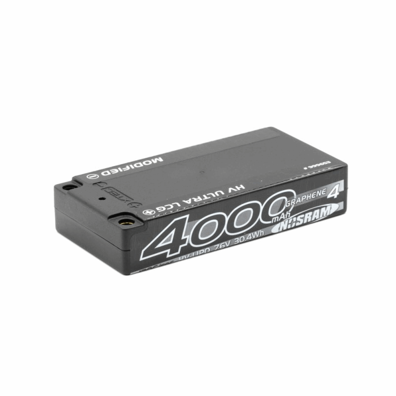 NOSRAM LIPO BATTERY HV LCG MODIFIED SHORTY GRAPHENE-4 4000MAH - 7.6V