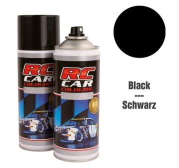 RC Car Colours Lexan Spray 150ml - Pure Black