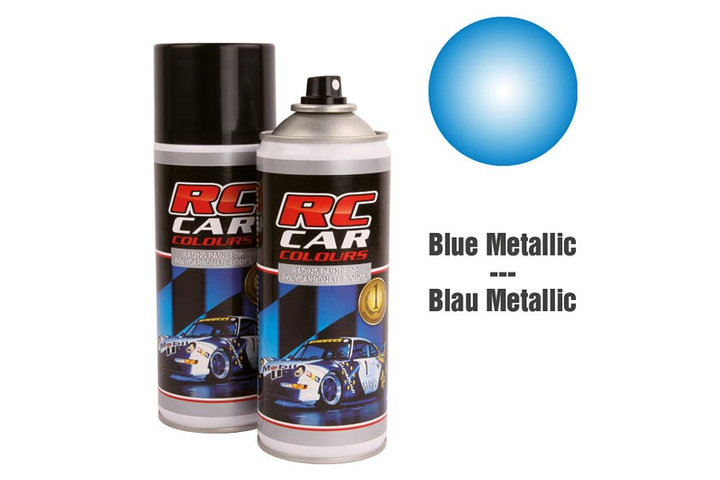 RC Car Colours Lexan Spray 150ml - Metal Alpine Blue