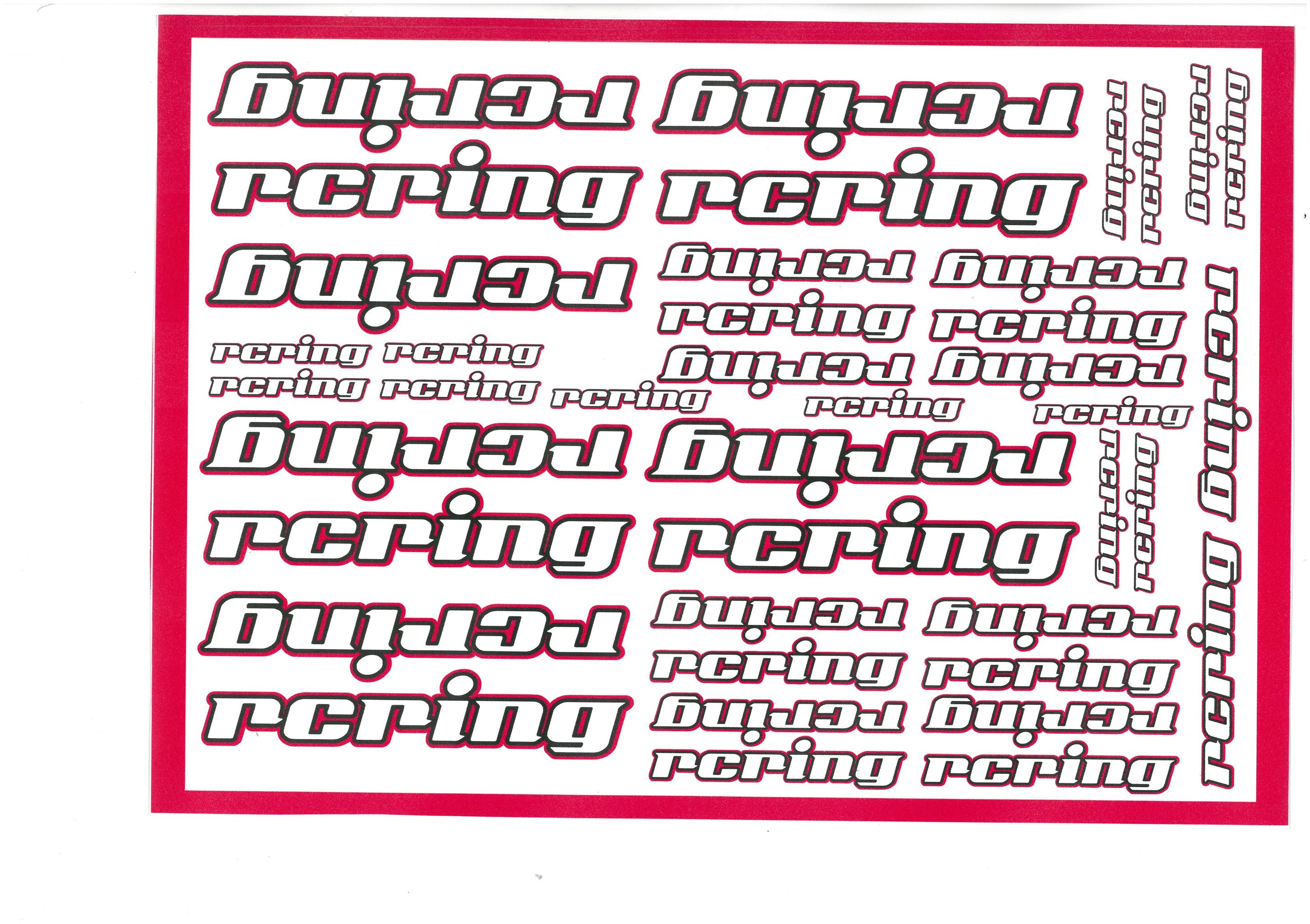 RCRING Decals for RCRING Magenta