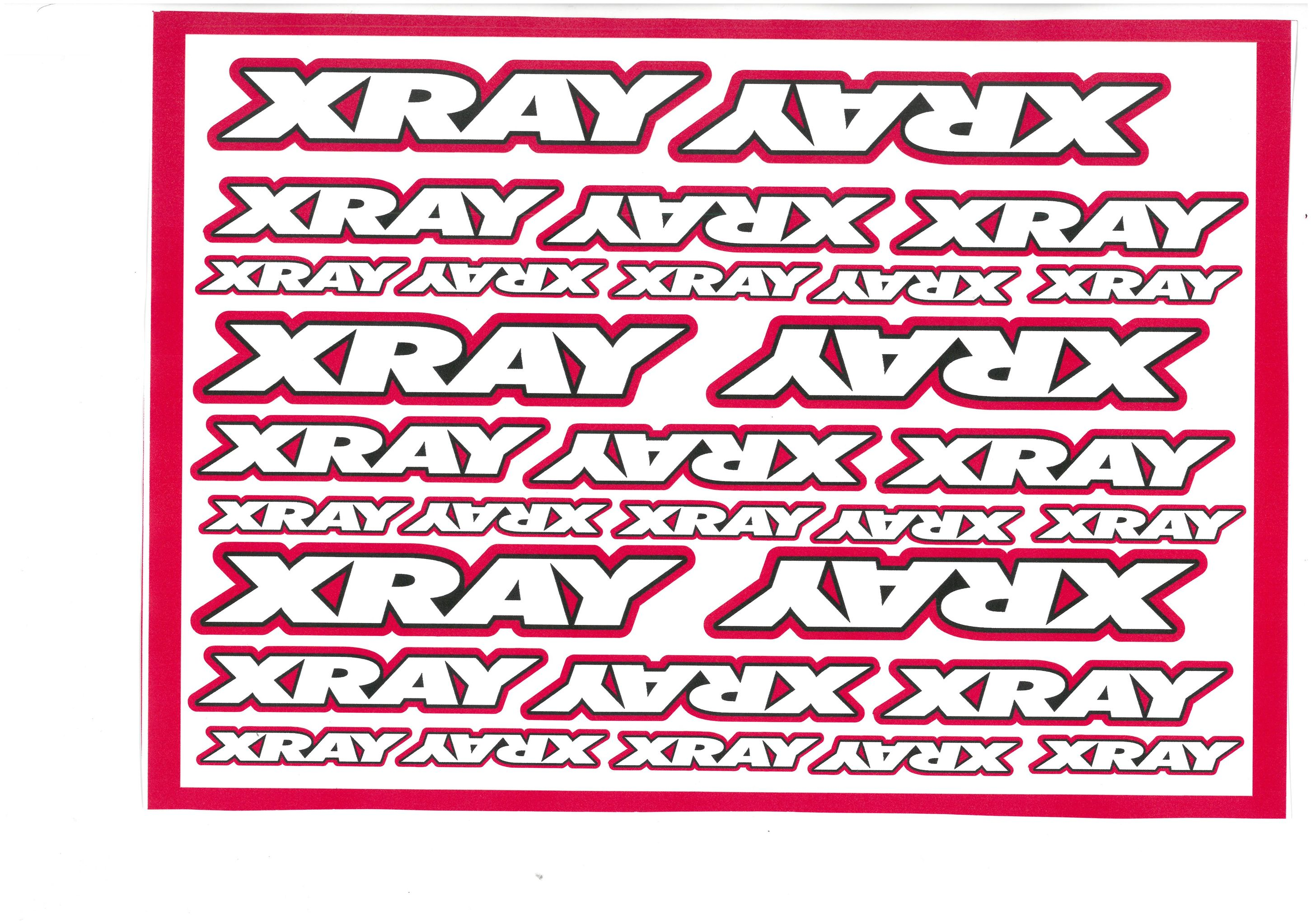 RCRING Decals for XRAY Magenta