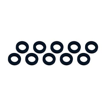 RCRING Alu Shim 3X6X2.0mm - Black - Quantity : 10 pcs