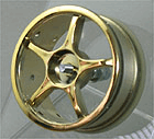 Ride 5-Spoke Plated Gold,4pc-set