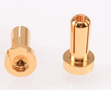 RUDDOG 4mm Gold Plug Male 12mm (2pcs)