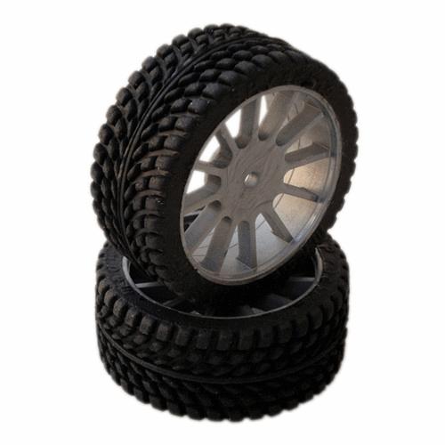 SP Racing 1/10 GT Sport Pre-Mounted on Multi Spoke Grey Wheel (2pcs)